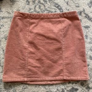 Forever 21 Blush Corduroy Skirt Medium